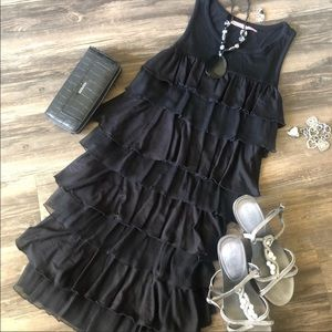 Juicy Couture Flapper Style Tiered Black Dress
